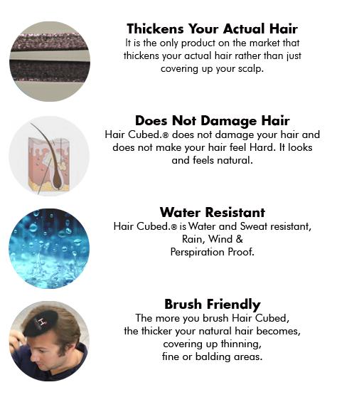 benefits of hair cubed fibers  building fiber solution