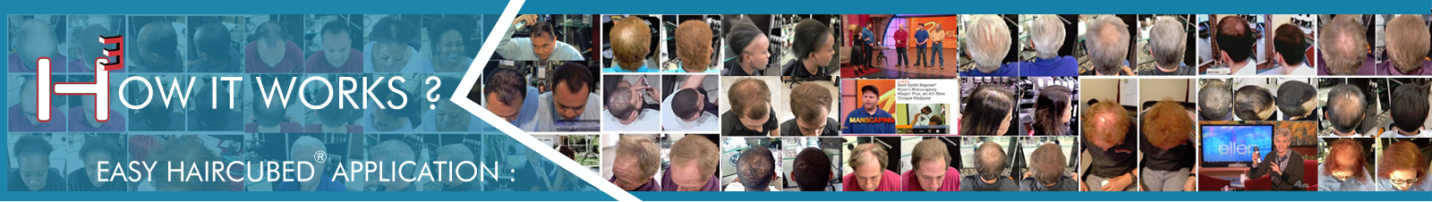 How It Works? Hair Cubed is a patent for problems with thinning hair fine hair and hair loss