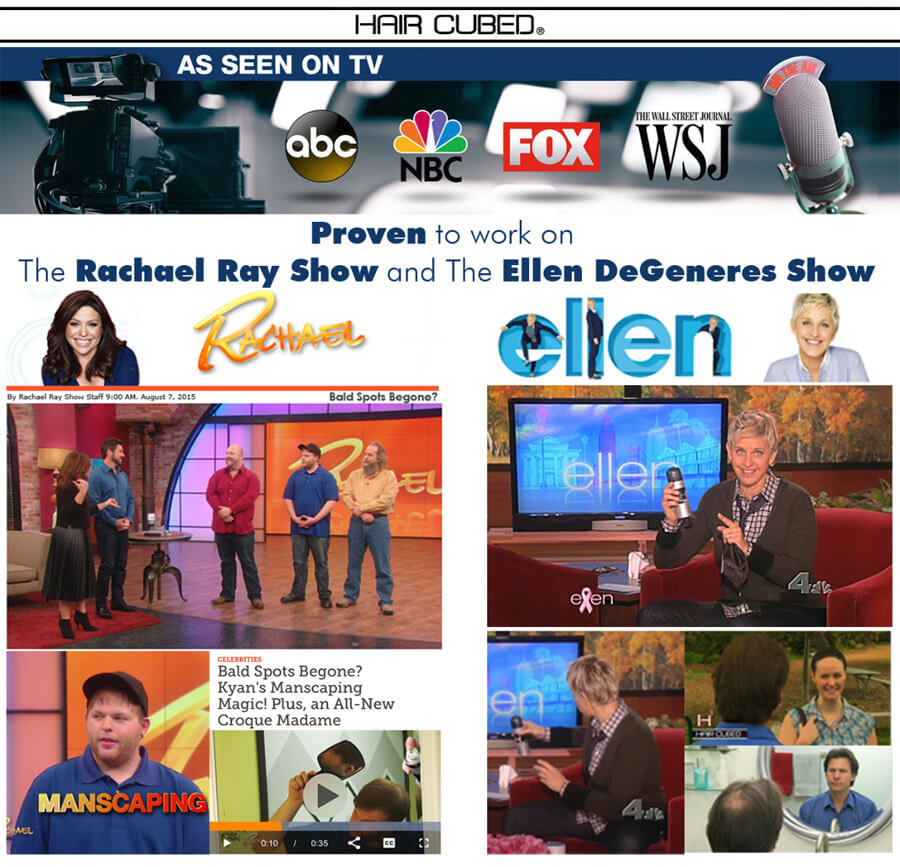 haircubed fiber on ellen degeneres show and image